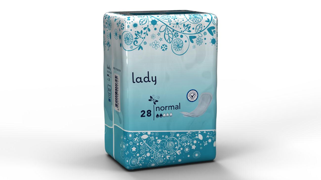 Modélisation en image de synthèse du paquet de changes pour adultes AMD Lady.