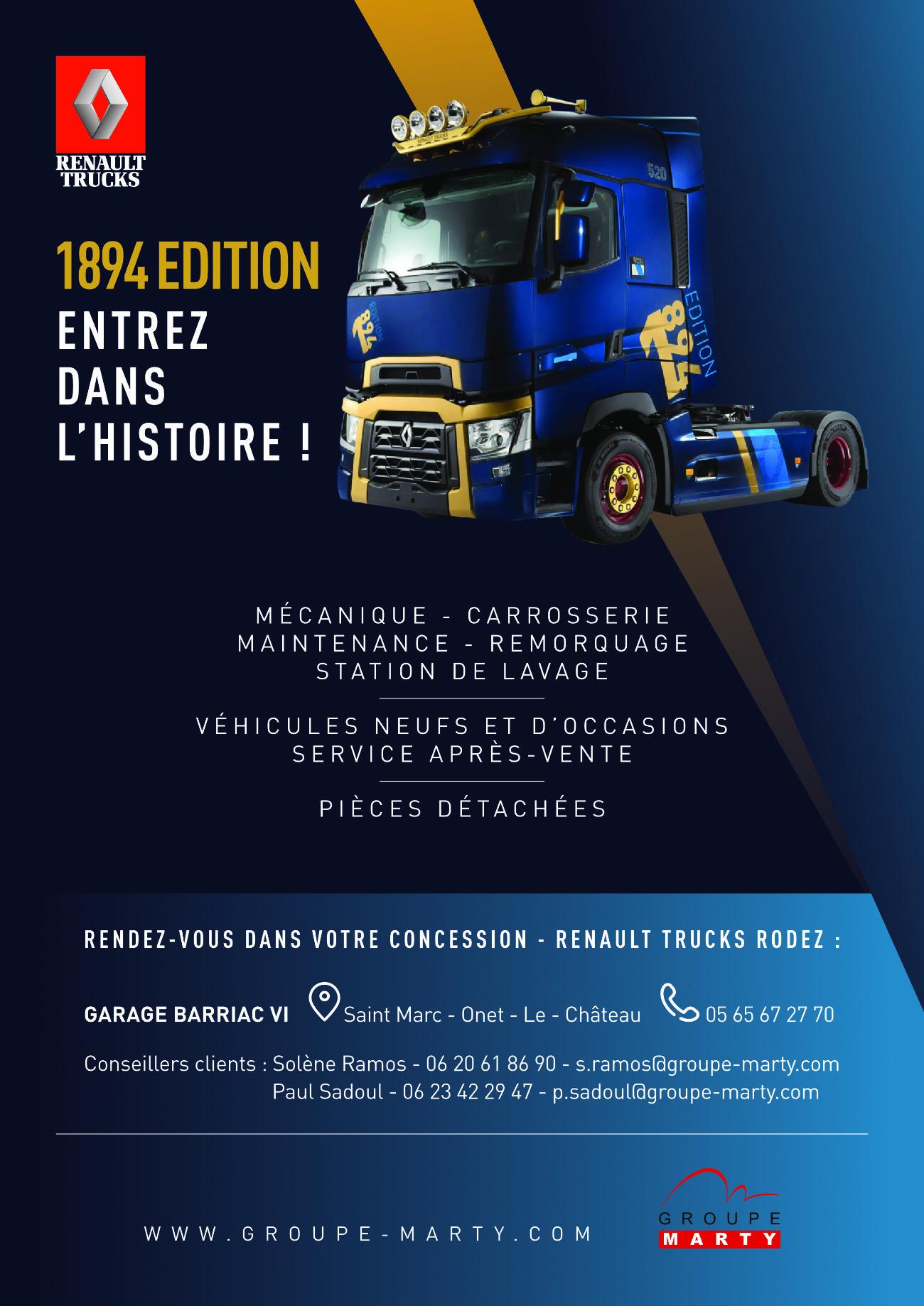 Flyer recto A4 1894 EDITION Renault Trucks