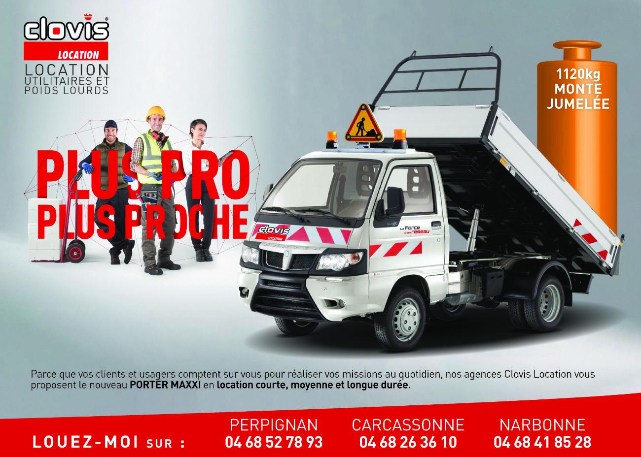Flyer recto de promotion d'un nouveau véhicule utilitaire Piaggio Porter
