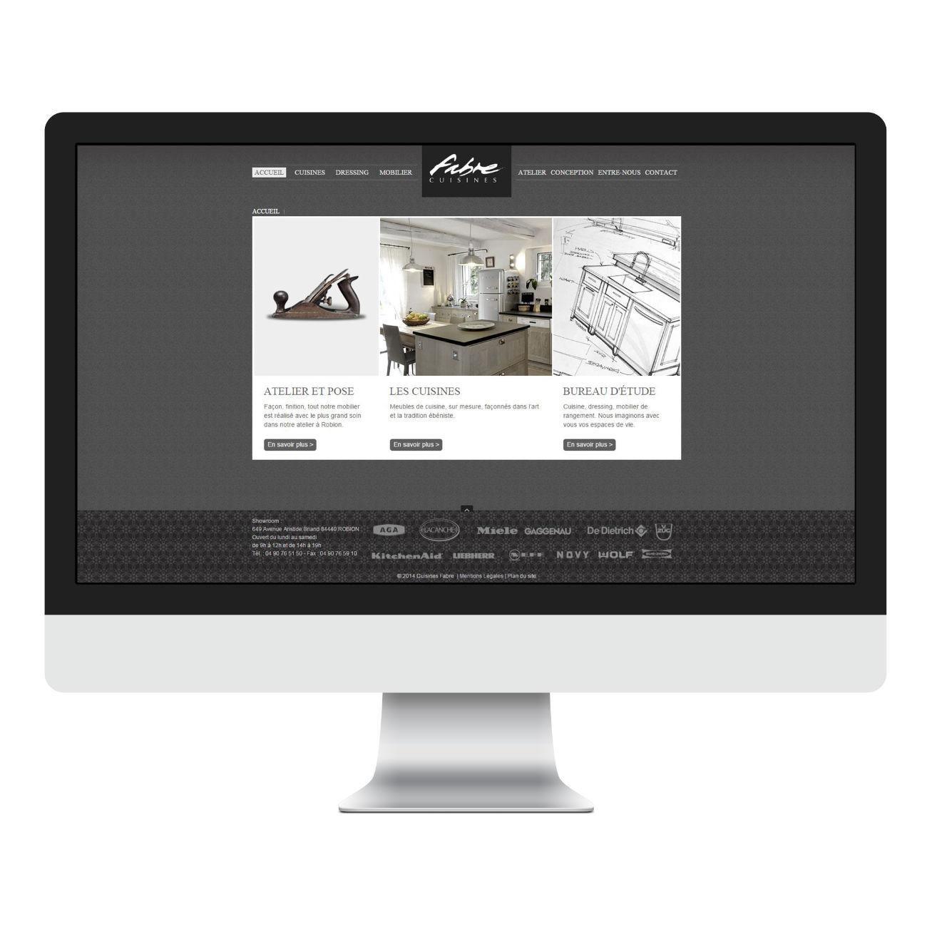 Page accueil Fabre cuisines desktop
